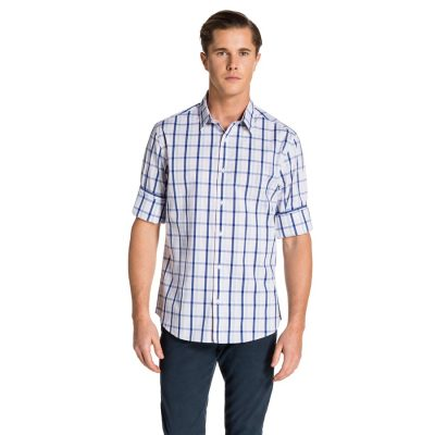 Fashion 4 Men - yd. Jamison Shirt Wht/Blu Xl