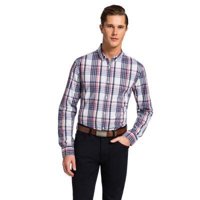 Fashion 4 Men - yd. Kaide Slim Fit Shirt Red/ Navy Xs