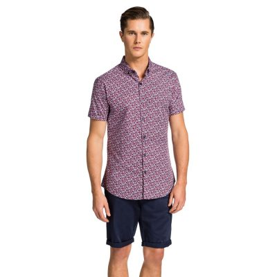 Fashion 4 Men - yd. Killan Ss Shirt Red Floral 2 Xs