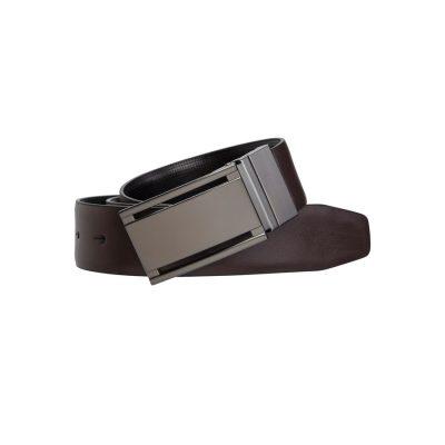 Fashion 4 Men - yd. Kingston Dress Belt Brown/Black 38