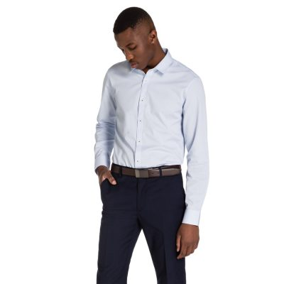 Fashion 4 Men - yd. Menton Dress Shirt Light Blue L