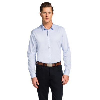 Fashion 4 Men - yd. Oslo Slim Fit Shirt Sky M