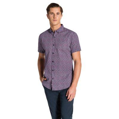 Fashion 4 Men - yd. Pedro Ss Shirt Navy S