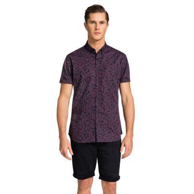 Fashion 4 Men - yd. Peyton Slimfit Ss Shirt Burgundy L