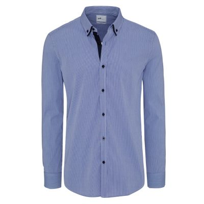 Fashion 4 Men - yd. Wilson Slim Fit Shirt Blue S
