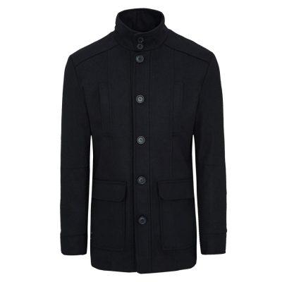 Fashion 4 Men - Tarocash Arden Wool Blend Coat Navy M