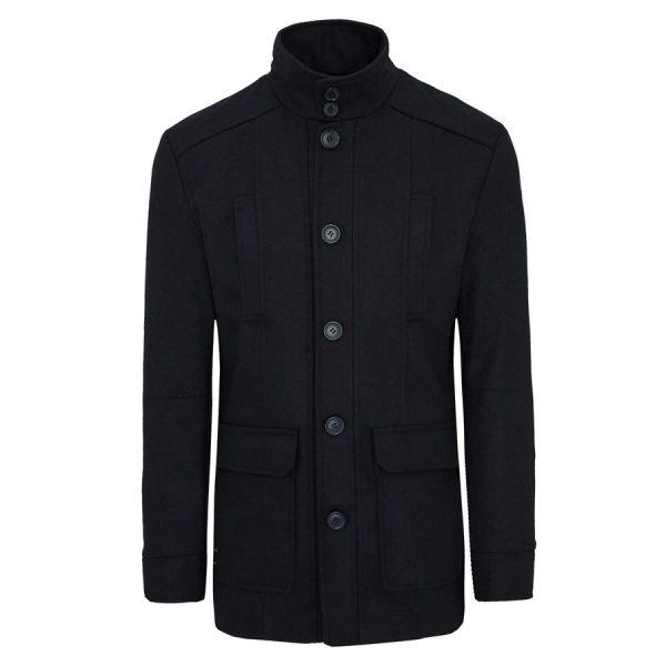 Fashion 4 Men - Tarocash Arden Wool Blend Coat Navy Xxl