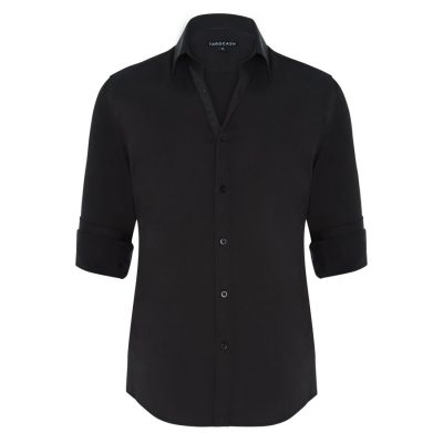 Fashion 4 Men - Tarocash Bahamas Slim Stretch Shirt Black S