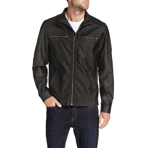 Fashion 4 Men - Tarocash Charlie Moto Jacket Chocolate Xl