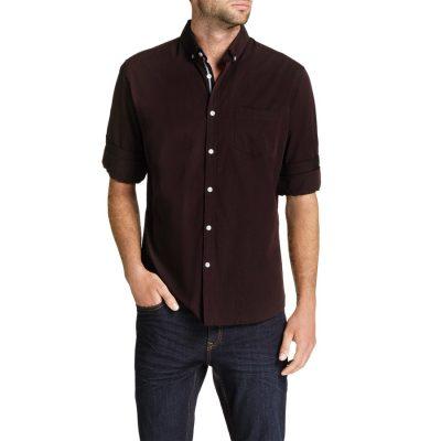 Fashion 4 Men - Tarocash Cool Cotton Shirt Burgundy L