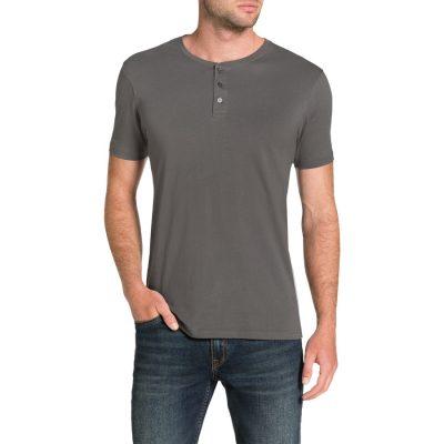 Fashion 4 Men - Tarocash Essential Henley Tee Pewter Xxxl
