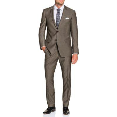 Fashion 4 Men - Tarocash Falco 2 Button Suit Mocha 36