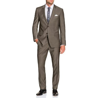 Fashion 4 Men - Tarocash Falco 2 Button Suit Mocha 40
