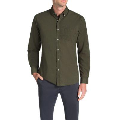 Fashion 4 Men - Tarocash Frasier Linen Blend Shirt Khaki 4 Xl