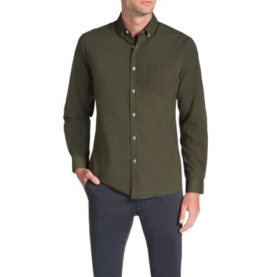 Fashion 4 Men - Tarocash Frasier Linen Blend Shirt Khaki Xxl