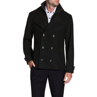 Fashion 4 Men - Tarocash Glasgow Wool Blend Coat Black Xxxl
