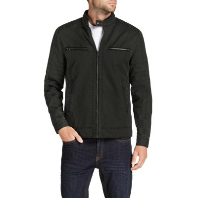 Fashion 4 Men - Tarocash Hart Moto Biker Jacket Chocolate Xl