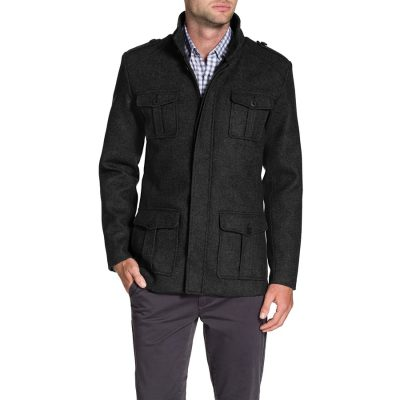 Fashion 4 Men - Tarocash Miller Military Coat Charcoal L