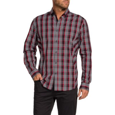 Fashion 4 Men - Tarocash Morgan Check Shirt Red L
