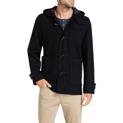 Fashion 4 Men - Tarocash Paddy Duffle Coat Navy S