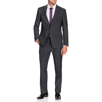 Fashion 4 Men - Tarocash Remington Stretch 1 Button Suit Steel 36