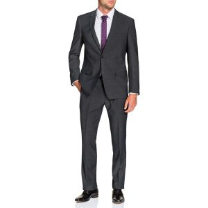 Fashion 4 Men - Tarocash Remington Stretch 1 Button Suit Steel 40