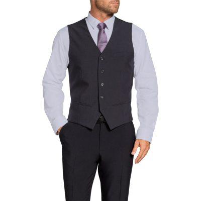 Fashion 4 Men - Tarocash Shelby Waistcoat Charcoal Xl