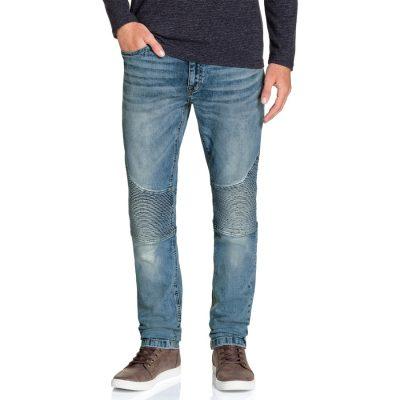 Fashion 4 Men - Tarocash Vic Moto Tapered Stretch Jean Sky 33