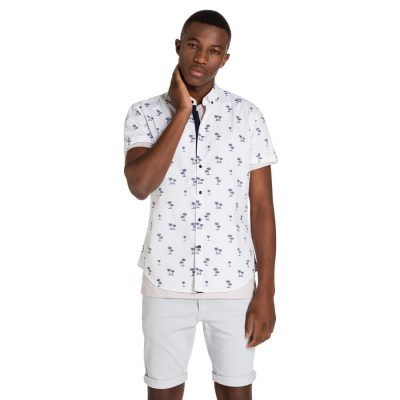 Fashion 4 Men - yd. Bahamas Ss Shirt White S