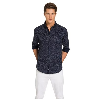Fashion 4 Men - yd. Dougal Shirt Navy Xxxl