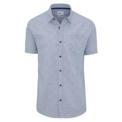 Fashion 4 Men - yd. Emmy Slim Fit Ss Shirt Navy Xxxl
