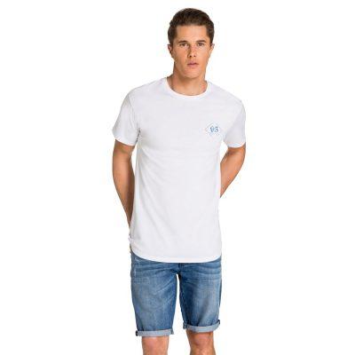 Fashion 4 Men - yd. Ghoa Relaxed Scoop Hem Tee White Xs