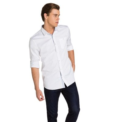 Fashion 4 Men - yd. Halten Slim Fit Shirt White 3 Xs