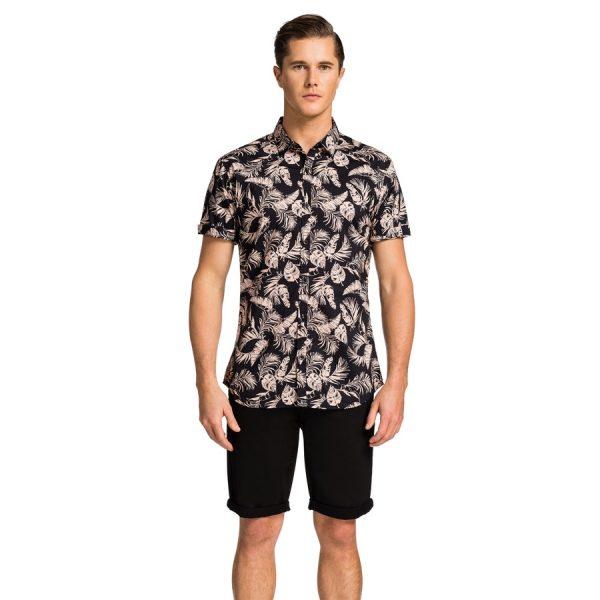 Fashion 4 Men - yd. Issa Ss Shirt Black 2 Xs