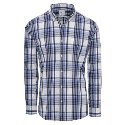 Fashion 4 Men - yd. Kaide Slim Fit Shirt Blue/ Navy L