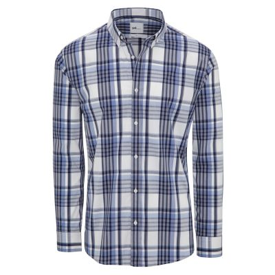Fashion 4 Men - yd. Kaide Slim Fit Shirt Blue/ Navy Xxl