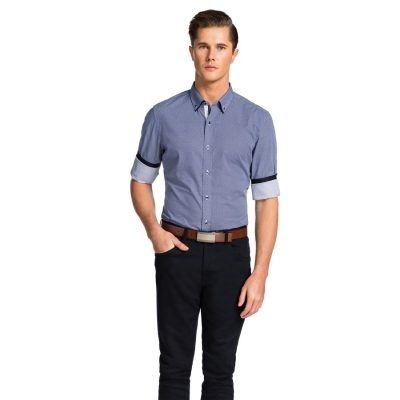 Fashion 4 Men - yd. Kappler Slim Fit Shirt Blue Xl