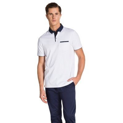 Fashion 4 Men - yd. Laken Polo White 3 Xl