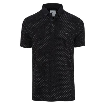 Fashion 4 Men - yd. Maddox Polo Black Xs