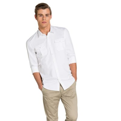 Fashion 4 Men - yd. Mateo Slim Fit Shirt White 2 Xs