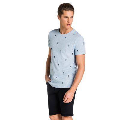 Fashion 4 Men - yd. Milton Tee Light Blue S