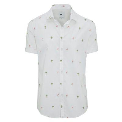 Fashion 4 Men - yd. Paradise Ss Shirt White 2 Xs