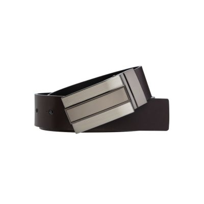 Fashion 4 Men - yd. Ricky Dress Belt Black/Moca Choc 30
