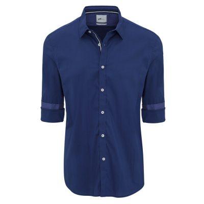 Fashion 4 Men - yd. Rosko Slim Fit Shirt Cobalt L