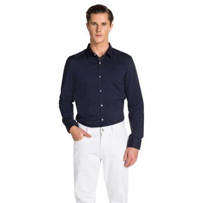 Fashion 4 Men - yd. Rosko Slim Fit Shirt Navy L