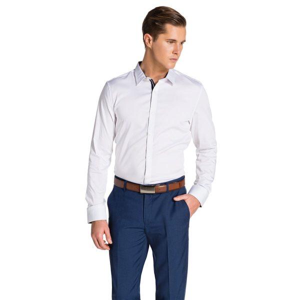 Fashion 4 Men - yd. Rosko Slim Fit Shirt White L