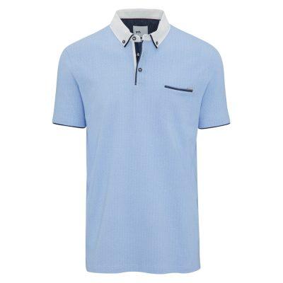 Fashion 4 Men - yd. Seaton Polo Sky Xs