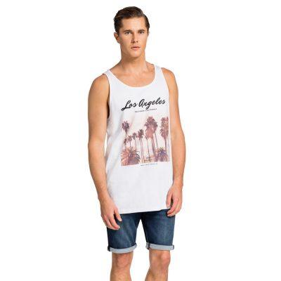 Fashion 4 Men - yd. Singlet Brando La White M