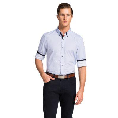 Fashion 4 Men - yd. Sussex Slim Fit Shirt Blue 3 Xs