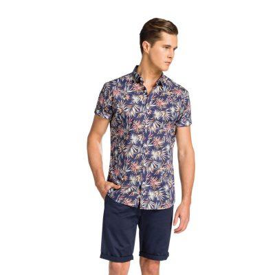Fashion 4 Men - yd. Thornberry Ss Shirt Navy Floral M